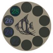 Термометр для аквариума LCD 0207LF, d-50мм