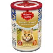 Консервы для кошек говядина с языком по-крестьянски