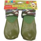 Носки для собак, высокое латексное покрытие, зеленые, разм.0