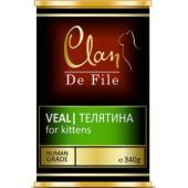 Clan De File консервы для котят (с телятиной)