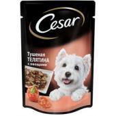 Паучи для взрослых собак тушеная телятина с овощами