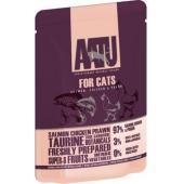 Паучи для кошек с лососем, курицей и креветками, AATU FOR CATS SALMON, CHICKEN & PRAWN