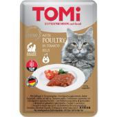 Консервы для кошек-пауч GF c птицей в томатном желе