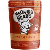 """Паучи для кошек с индейкой, говядиной и курицей """"Аппетитная индейка"""", Top Cat Turkey"""
