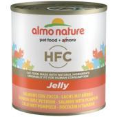 Консервы для кошек с лососем и тыквой в желе, Jelly HFC Adult Cat Salmon&Pumpkin