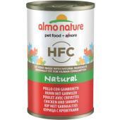 Консервы для кошек с курицей и креветками, 50% мяса, Classic HFC Adult Cat Chicken&Shrimps
