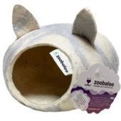 Домик для грызунов с ушками, шерсть,, серый, 25*25*15 см
