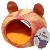 Домик для грызунов с ушками, шерсть,, мультиколор розовый, 25*25*15 см