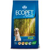 Ecopet Natural Fish MEDIUM cухой корм для взрослых собак средних пород