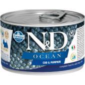 N&D Ocean консервы для собак MINI треска с тыквой