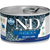N&D Ocean консервы для собак MINI сибас с кальмаром