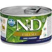 N&D Prime консервы для собак MINI ягненок и черника