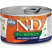 N&D Pumpkin консервы для щенков MINI ягненок с тыквой и черникой