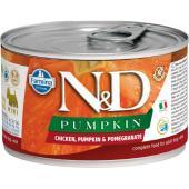 N&D Pumpkin консервы для собак MINI курицы с тыквой и гранатом