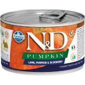 N&D Pumpkin консервы для собак MINI ягненок с тыквой и черникой