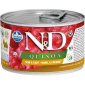 N&D Quinoa консервы для собак MINI перепел, кокос, киноа