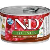 N&D Quinoa консервы для собак MINI оленина, кокос, киноа