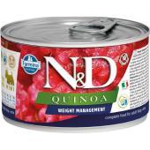 N&D Quinoa консервы для собак MINI контроль веса