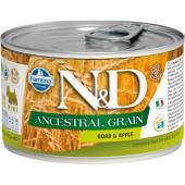 N&D Ancestral консервы для собак MINI кабан с яблоком