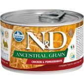 N&D Ancestral консервы для собак MINI курица с гранатом