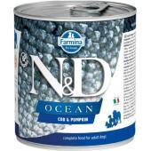 N&D Ocean консервы для собак треска с тыквой