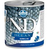 N&D Ocean консервы для собак лосось с треской