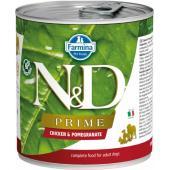 N&D Prime консервы для собак курица и гранат