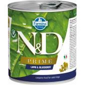 N&D Prime консервы для собак ягненок и черника