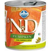N&D Pumpkin консервы для собак кабан с яблоком и тыквой