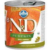N&D Pumpkin консервы для собак утка с тыквой