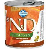 N&D Pumpkin консервы для собак оленина с тыквой