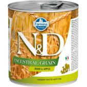 N&D Ancestral консервы для собак кабан с яблоком