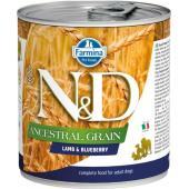 N&D Ancestral консервы для собак ягненок с черникой