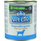 Vet Life консервы для собак гипоаллергеник рыба с картофелем (паштет)