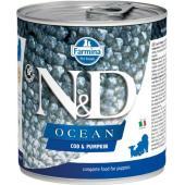 N&D Ocean консервы для щенков треска с тыквой
