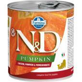 N&D Pumpkin консервы для щенков курица с тыквой и гранатом