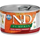 N&D Pumpkin консервы для щенков MINI курица с тыквой и гранатом