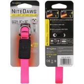 Светящийся ошейник NiteDawg XS для миниатюрных собак 20.3-30.6см, розовый