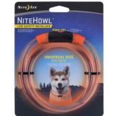 Ошейник светящийся для собак Nite Howl, 30.5-68.5см оранжевый