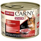 Консервы для кошек старше 7 лет  с говядиной и сердцем индейки (CARNY Senior)