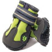 Ботинки для собак неопрен, 4 шт. зеленые, разм.XS