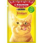 Кусочки в подливе c Языком для кошек