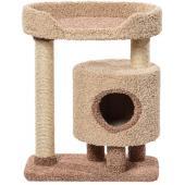 Комплекс для кошек ковролиновый «Кими» 67*42*85 см, сизаль