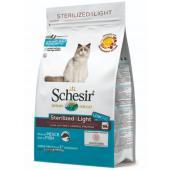 Для кастрированных котов и стерилизованных кошек облегченный с рыбой Schesir Sterilized & Light