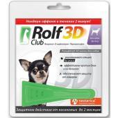 Капли на холку для собак 1-4 кг, от клещей, блох, насекомых