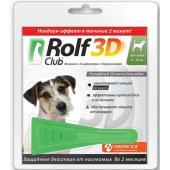 Капли на холку для собак 4-10 кг, от клещей, блох, насекомых