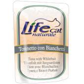 Консервы для кошек с тунцом и белой рыбой в желе, пауч