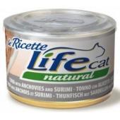 Консервы для кошек тунец с анчоусами и сурими в бульоне