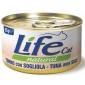 Консервы для кошек тунец с камбалой в бульоне