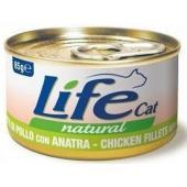 Консервы для кошек с курицей и уткой в бульоне